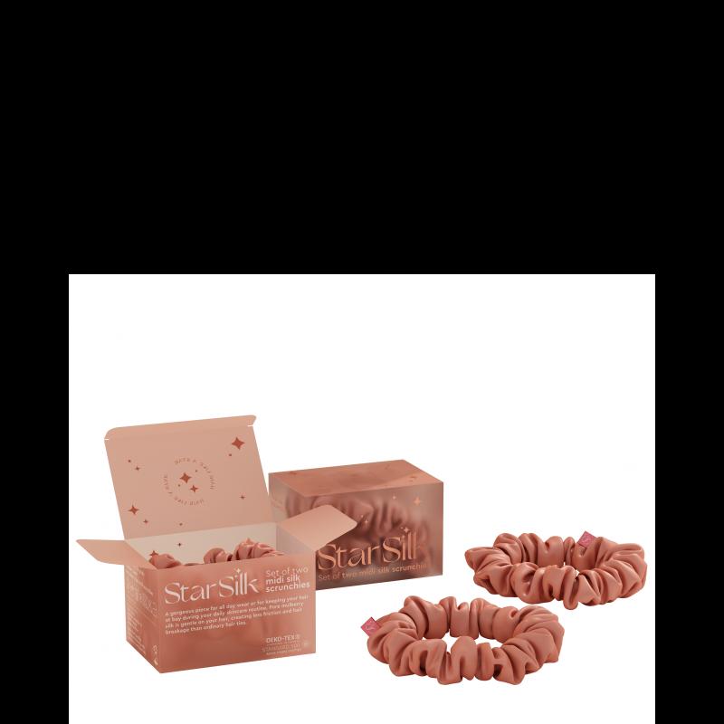 Svilena elastika za lase Daydream Pink