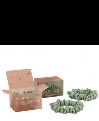 Svilena elastika za lase Green Aurora